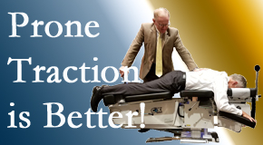 Colorado Springs spinal traction applied lying face down – prone – is best according to the latest research. Visit The Chiropractic TRUhealthDR.