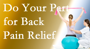The Chiropractic TRUhealthDR calls on back pain sufferers to participate in their own back pain relief recovery.