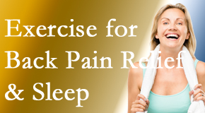 The Chiropractic TRUhealthDR shares new research about the benefit of exercise for back pain relief and sleep.