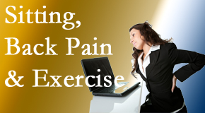 The Chiropractic TRUhealthDR urges less sitting and more exercising to combat back pain and other pain issues.