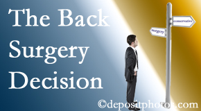 Colorado Springs back surgery for a disc herniation is an option to be carefully studied before a decision is made to proceed.