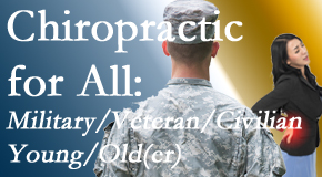 The Chiropractic TRUhealthDR provides back pain relief to civilian and military/veteran sufferers and young and old sufferers alike!