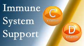 The Chiropractic TRUhealthDR presents details about the benefits of vitamins C and D for the immune system to fight infection.