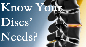 Your Colorado Springs chiropractor thoroughly understands spinal discs and what they need nutritionally. Do you?