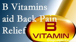 The Chiropractic TRUhealthDR may include B vitamins in the Colorado Springs chiropractic treatment plan of back pain sufferers.