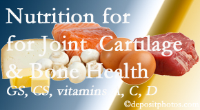 The Chiropractic TRUhealthDR describes the benefits of vitamins A, C, and D as well as glucosamine and chondroitin sulfate for cartilage, joint and bone health.