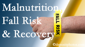The Chiropractic TRUhealthDR checks patients for fall risks which include nutritional status and malnutrition indicators.