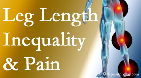 The Chiropractic TRUhealthDR tests for leg length inequality as it is related to back, hip and knee pain issues.