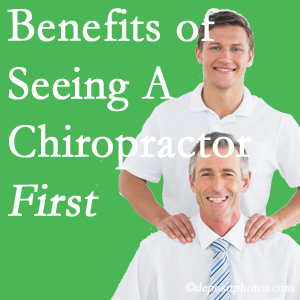 Getting Colorado Springs chiropractic care at The Chiropractic TRUhealthDR first may reduce the odds of back surgery need and depression.