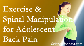 The Chiropractic TRUhealthDR uses Colorado Springs chiropractic and exercise to help back pain in adolescents.