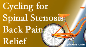 The Chiropractic TRUhealthDR encourages exercise like cycling for back pain relief from lumbar spine stenosis.