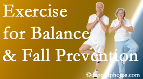 Colorado Springs chiropractic care of balance for fall prevention involves stabilizing and proprioceptive exercise.