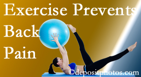 The Chiropractic TRUhealthDR encourages Colorado Springs back pain prevention with exercise.