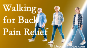 The Chiropractic TRUhealthDR often recommends walking for Colorado Springs back pain sufferers.