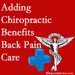 Added Colorado Springs chiropractic to back pain care plans helps back pain sufferers.