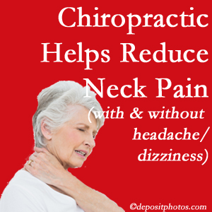 Colorado Springs chiropractic treatment of neck pain even with headache and dizziness relieves pain at a reduced cost and increased effectiveness.
