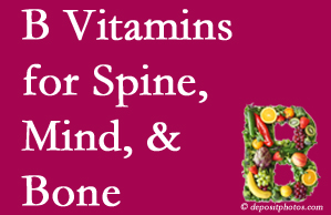 Colorado Springs bone, spine and mind benefit from B vitamin intake and exercise.