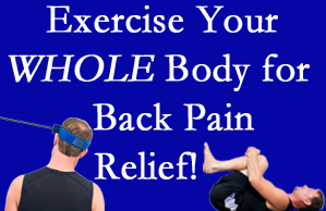 Colorado Springs chiropractic care includes exercise to help enhance back pain relief at The Chiropractic TRUhealthDR.