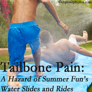 The Chiropractic TRUhealthDR offers chiropractic manipulation to ease tailbone pain after a Colorado Springs water ride or water slide injury to the coccyx.