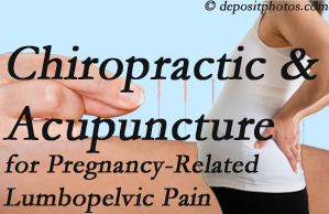 Colorado Springs chiropractic and acupuncture may help pregnancy-related back pain and lumbopelvic pain.