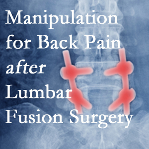 Colorado Springs chiropractic spinal manipulation helps post-surgical continued back pain patients discover relief of their pain despite fusion.