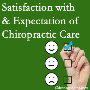 Colorado Springs chiropractic care provides patient satisfaction and meets patient expectations of pain relief.