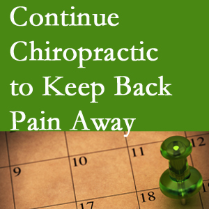 Continued Colorado Springs chiropractic care fosters back pain relief.