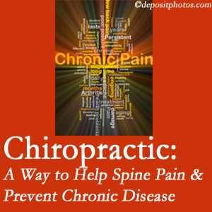 The Chiropractic TRUhealthDR helps relieve musculoskeletal pain which helps prevent chronic disease.